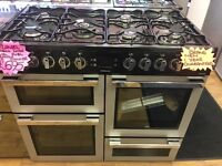 FLAVEL 100CM DUAL FUE BRAND NEW RANE STYLE COOKER IN BLACK AND SILIVER