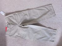 Boys Age 5 Beige Cotton Chinos from GAP New with tags