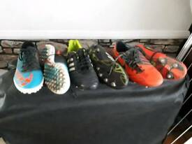 3 pairs of boys football boots