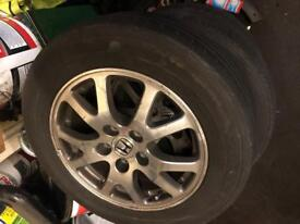 Genuine Honda Alloys with Tyres 16 inch 5x114.3