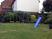 Garden Swing Set and Slide!