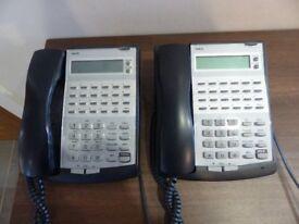 4 X NEC Topaz 12 Button Display Telephones