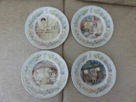 FOUR ROYAL WORCESTER WALL PLATES