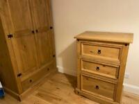 Wardrobe and Chest of Drawers - Solid Pine (total RRP £328)