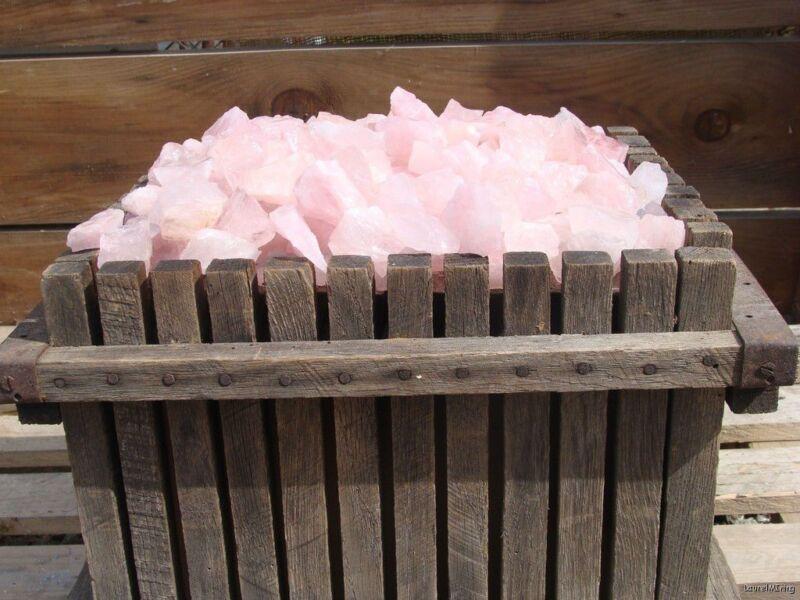 Natural PINK QUARTZ - 1000 Carats - Rough Rocks  - Gems - Lapidary Stones - Rose