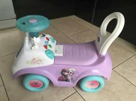Frozen ride on kids toy car push along toddlers