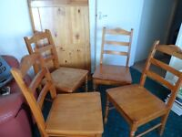 Wood Dinning Table & 4 Chairs