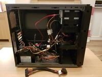 Pc case Power, 2x dvd writers,fan controller and various cables