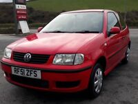 VW POLO 1.0 E 3 DOOR, RED, 2001 '51 REG, 83'000 MILES, FSH, MOT - AUGUST 2018, PAS, IDEAL FIRST CAR