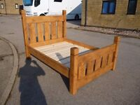 rustic double bed,£275,free delivery and assembly within 50mile radius