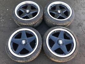 "Porsche 924s turbo / 944 / 911 16"" Alloy Wheels - Excellent tyres"