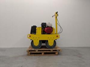 HOC DDR60 HONDA WALK BEHIND DOUBLE DRUM ROLLER VIRATION ROLLER COMPACTOR + FREE SHIPPING + 2 YEAR WARRANTY