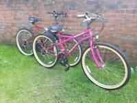 His and her mountain bikes hardly used