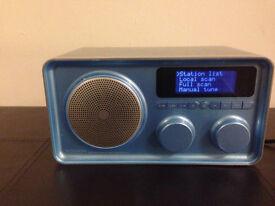 OXX Digital Blue Classic DAB Radio Internet Radio and FM Radio -