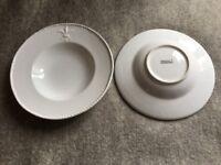 Two lovely white pasta/salt/soup plates