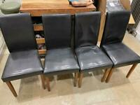 Faux-leather dining chairs (set of 4)