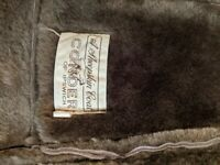 Men's large conder of Ipswich sheepskin coat
