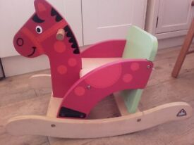 ELC- EARLY EARNING CENTRE- WOODEN ROCKING HORSE.