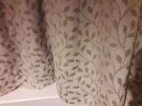 Chenille curtains 90w x 72d & tie backs