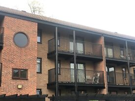 1 bed apartment, plus small spare room, to let in modern block with balcony and parking space