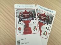 2 x England v Italy Six Nations Rugby Tickets 26th Feb £400 the pair