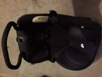 Joie birth to 4 car seat with ISO FIX base - plus free BRAND NEW shades for car windows