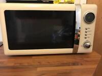 Microwave, kettle, toaster, sugar pots