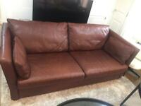 Lovely 3 Seater Leather Sofa CALL 07757671484
