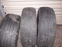 195-60R16 part worn tyres x3