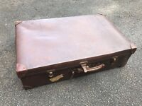 Vintage Dark Brown Suitcase