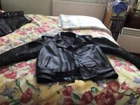 Leather Jacket and Belstaff Trousers