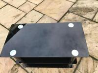 Black glass gloss TV stand