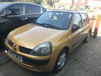 RENAULT CLIO 03- NEED TO SELL ASAP £475ono