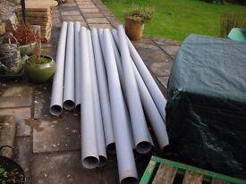 3,meter lengths of 110mm new grey soil pipes