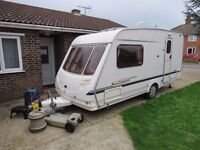 Sterling vitesse 460 2003 year,2 berth,light weight 960kg,awning,all extras,in briliant condition