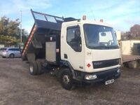 DAF LF45 150 TIPPER WITH AIR COMPRESSOR TO RUN POWER TOOLS VERY GOOD CONDITION £3850 CALL!!