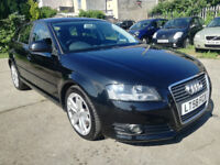 2008/58 Audi A3 Tdi Sportback, black, 89k, excellent history, vgc throughout, 3 months warranty
