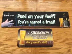 STRONGBOW 2x Large Beer Bar Mat Runner Pub Cider Halloween