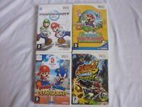 4 x MARIO Nintendo Wii Games Bundle