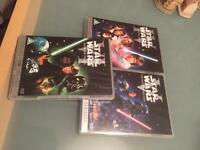 STAR WARS TRILOGY REMASTERED DVD IN VGC