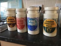 Lord nelson vintage / retro kitchen canisters