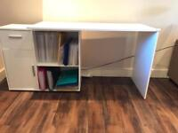 Albea rotating corner desk in white