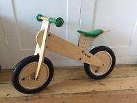 Wooden Kokua -Like a bike -balance bike