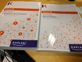 """CFA level 3 2017 Kaplan """"Question & Answers"""" and """"Mind maps"""" actual books £20"""