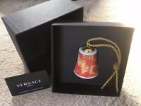 VERSACE ROSENTHAL CHRISTMAS TREE BELL DECORATION BOXED