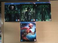 Arrow S01, 02 & 03 Bluray and The Flash S01 Bluray