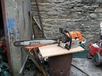 stihl 084 chainsaw with 2 foot bar and chain