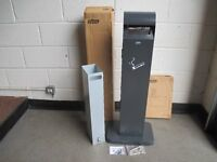 BRAND NEW BOXED PROBBAX COMMERCIAL FLOOR STANDING ASHTRAY WITH BIN AND KEY FREE DELIVERY