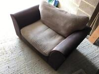 Brown / Mink Cuddler Sofa