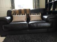 2&3 seater Sofology brown leather sofas